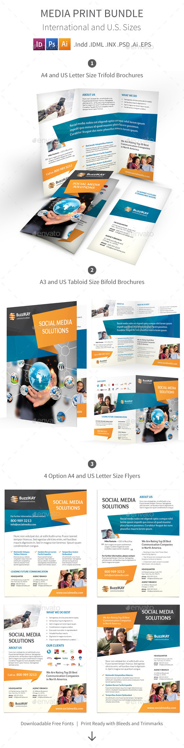 Media and Communication Print Bundle - Informational Brochures