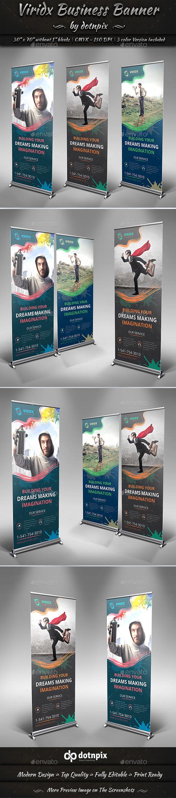Viridx Business Banner - Signage Print Templates