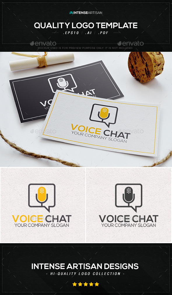 Voice Chat Logo Template - Objects Logo Templates