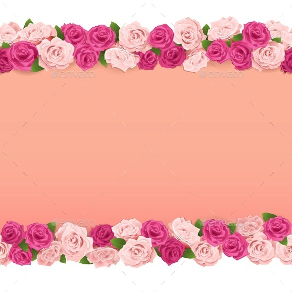 Flower Frame - Backgrounds Decorative