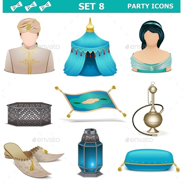 Party Icons Set 8 - Miscellaneous Vectors