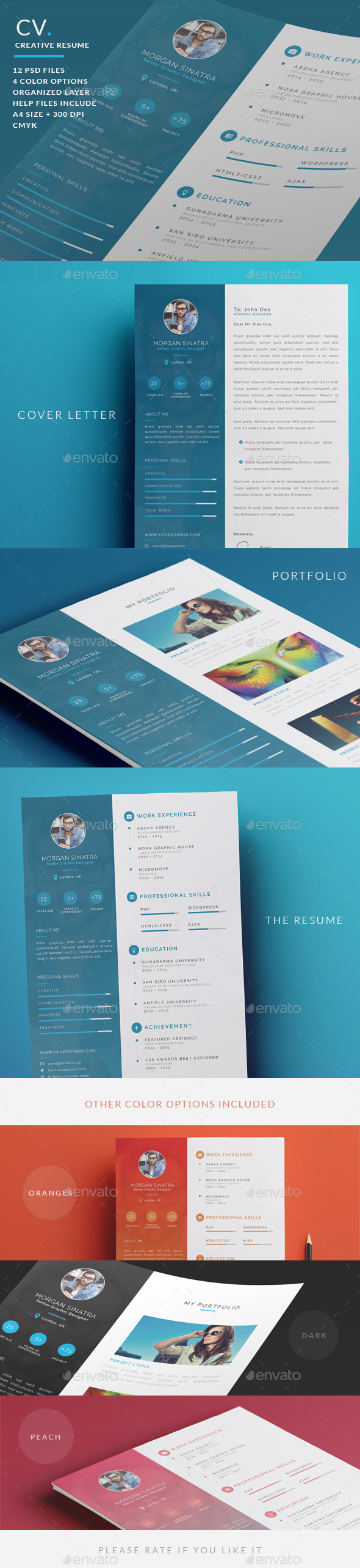 Creative Resume - CV - Resumes Stationery