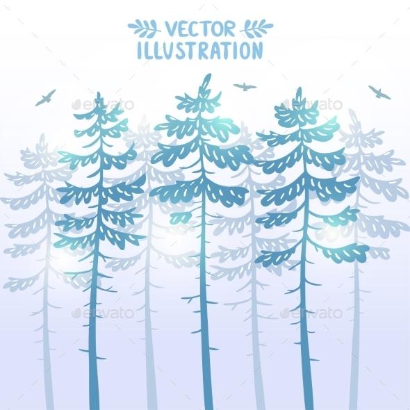 Pine Background - Seasons Nature