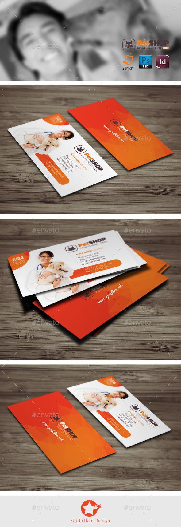 Pet Shop Business Card Templates - Business Cards Print Templates