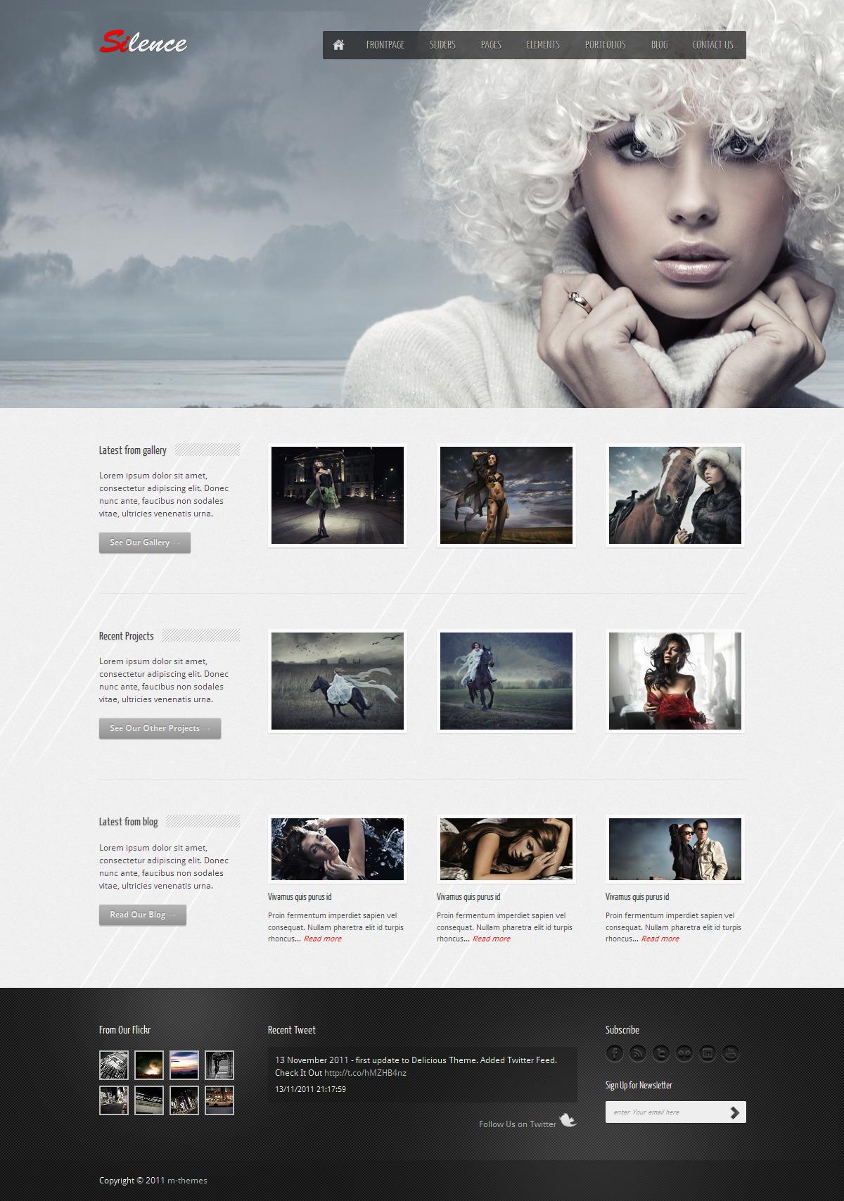 Silence - Premium HTML Template by maarcin | ThemeForest
