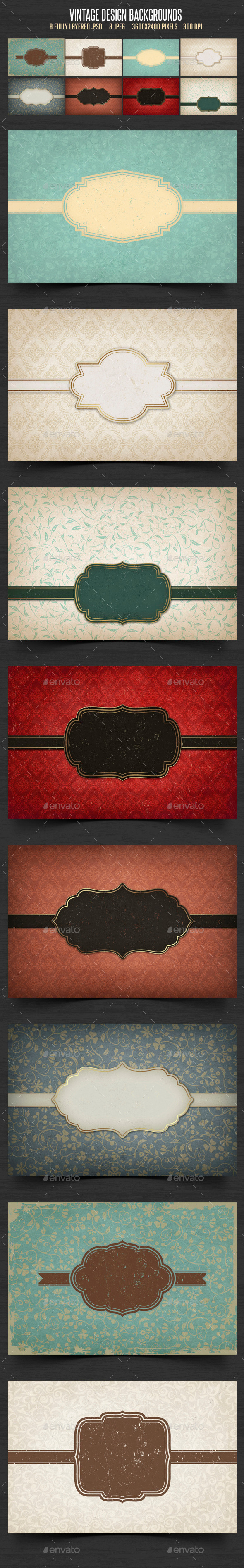 Vintage Design Backgrounds - Backgrounds Graphics