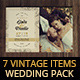 7 Vintage Items - Wedding Pack II - GraphicRiver Item for Sale
