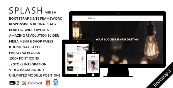 Splash - Multipurpose Joomla Template