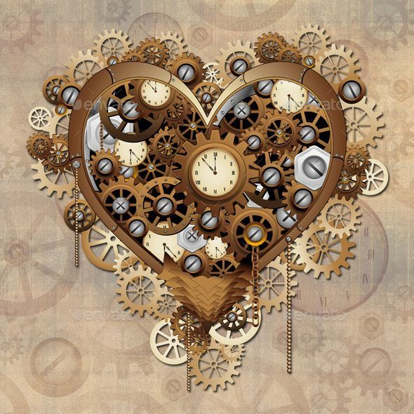 Steampunk Heart Love - Valentines Seasons/Holidays