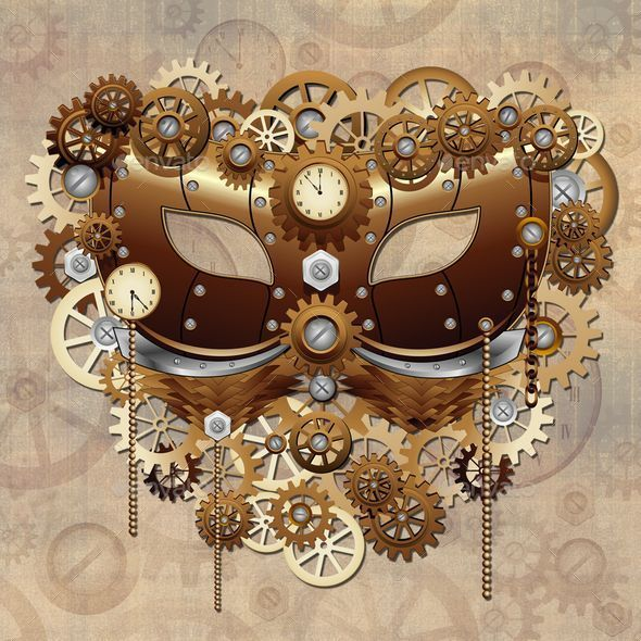 Steampunk Carnival Party Mask - Miscellaneous Seasons/Holidays