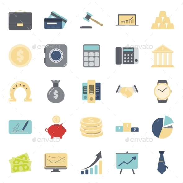 Buisiness and Finance Icons - Web Technology