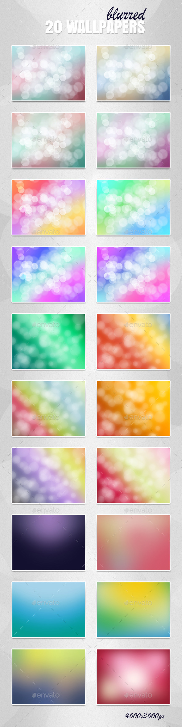 Blurred Backgrounds Set - Backgrounds Graphics