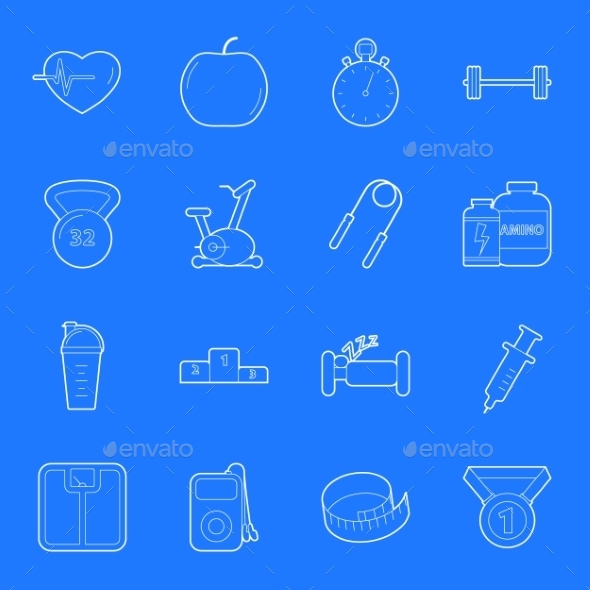 Fitness and Gym Icons - Health/Medicine Conceptual