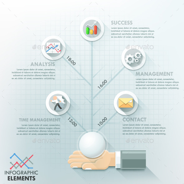 Business Hands Teamwork Infographics - Infographics