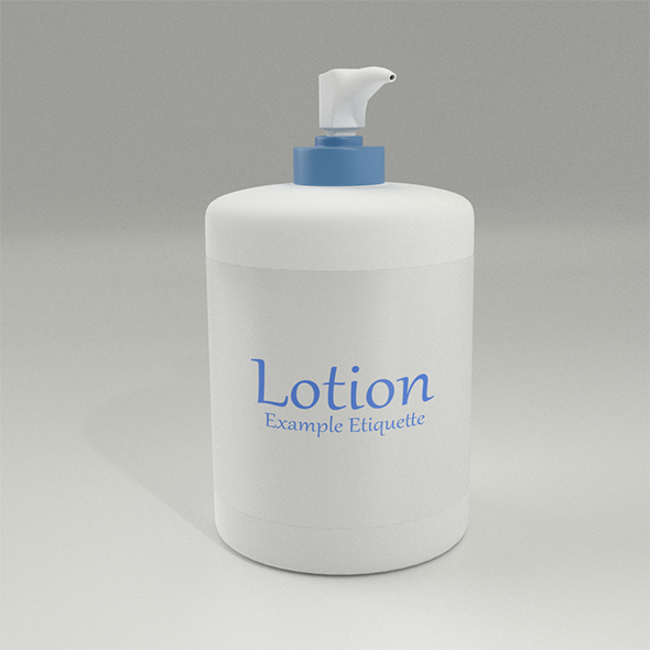 Lotion Bottle - 3DOcean Item for Sale