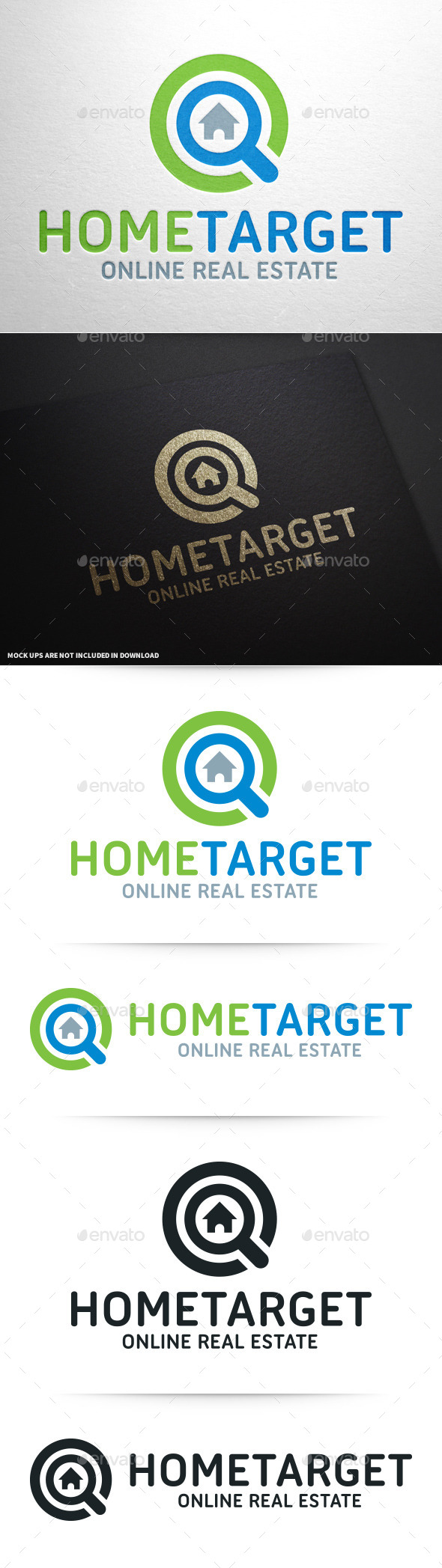 Home Target Logo Template - Objects Logo Templates