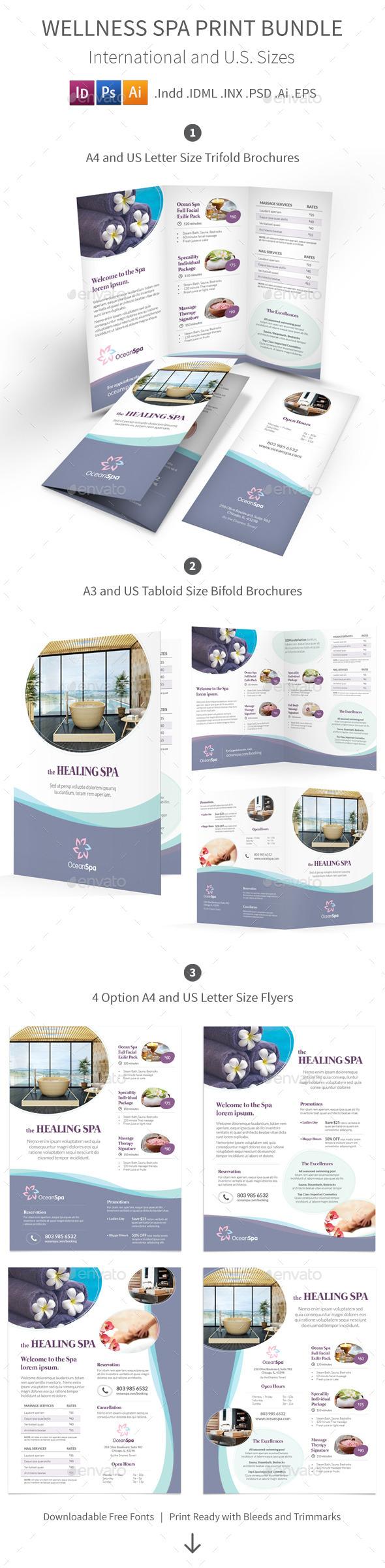 Wellness Spa Print Bundle - Informational Brochures