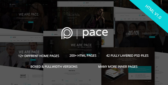 Pace - Responsive MultiPurpose HTML5 Template - Corporate Site Templates