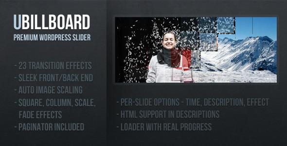 uBillboard - Premium Slider