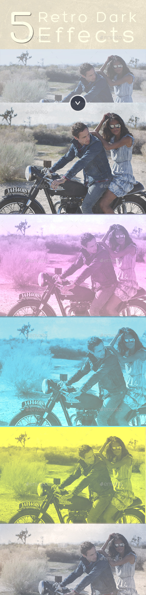 Retro Effects - Photoshop Template - Photo Templates Graphics