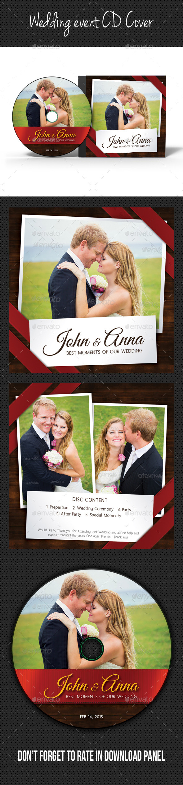 Wedding Event CD Cover V08 - CD & DVD Artwork Print Templates