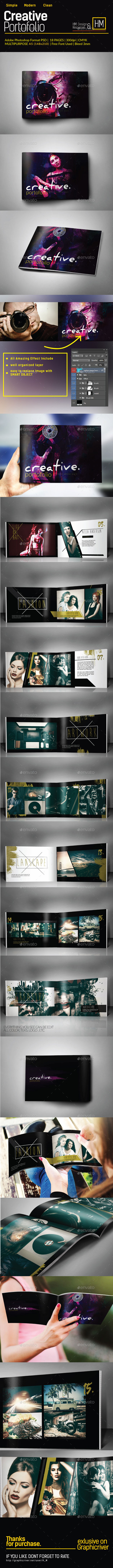 Multipurpose Portolio Creative template - Portfolio Brochures