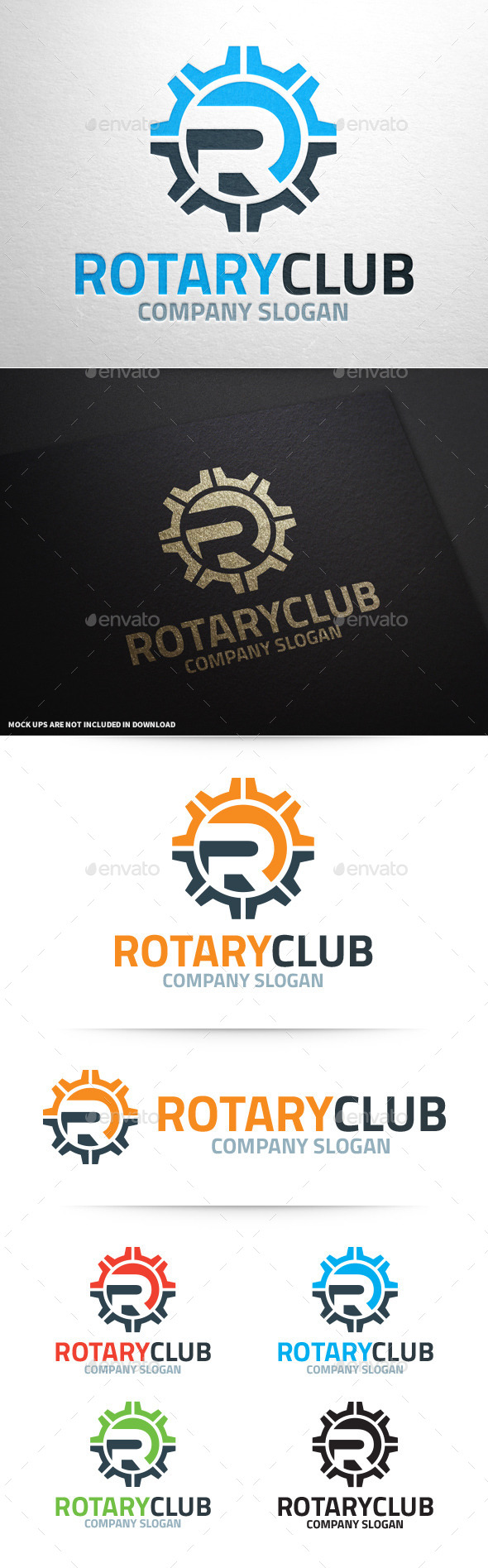 Rotary Club - Letter R Logo - Letters Logo Templates