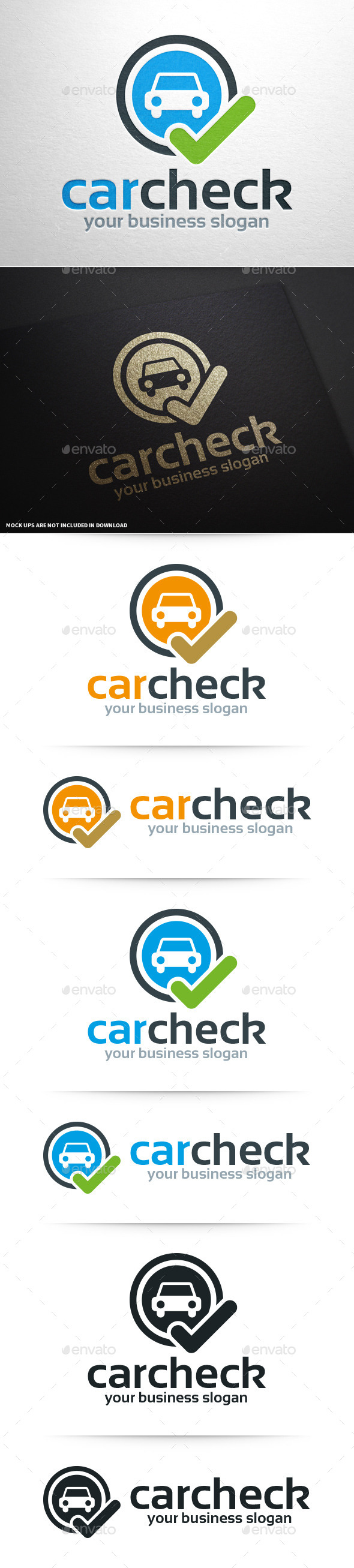 Car Check Logo Template - Symbols Logo Templates