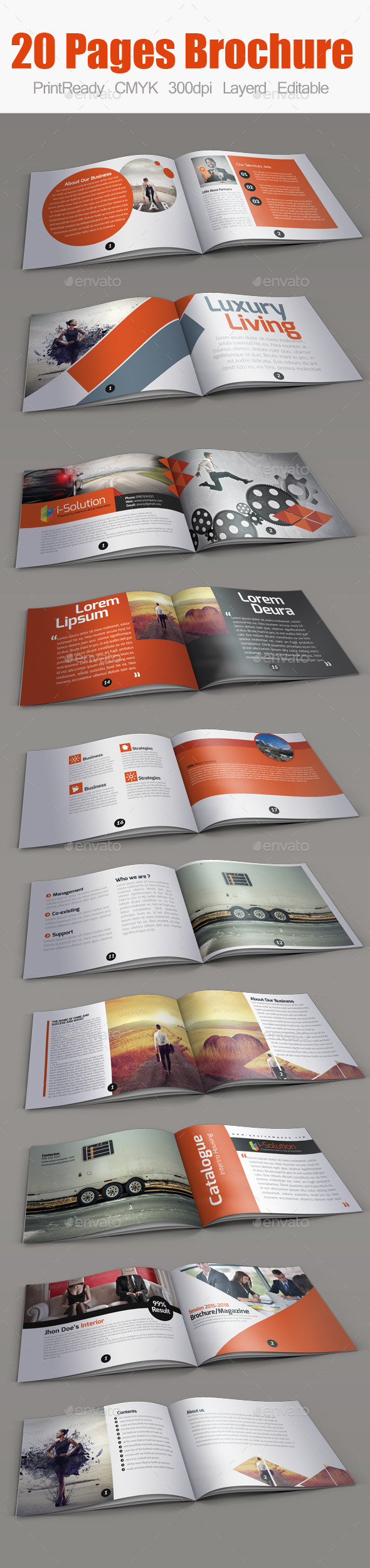 Multiuse Minimal Square Brochure - Corporate Brochures