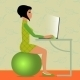 Young Woman Sitting on Fitness Ball  - GraphicRiver Item for Sale