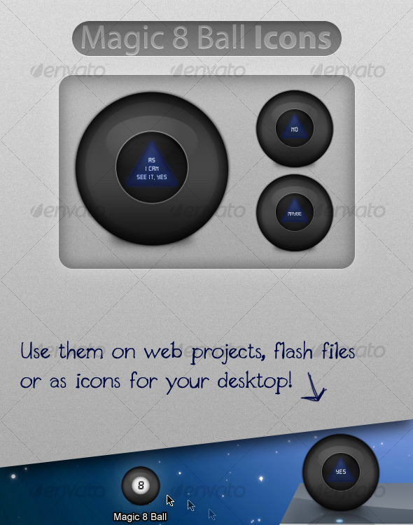 Magic 8 Ball Icons - Web Icons