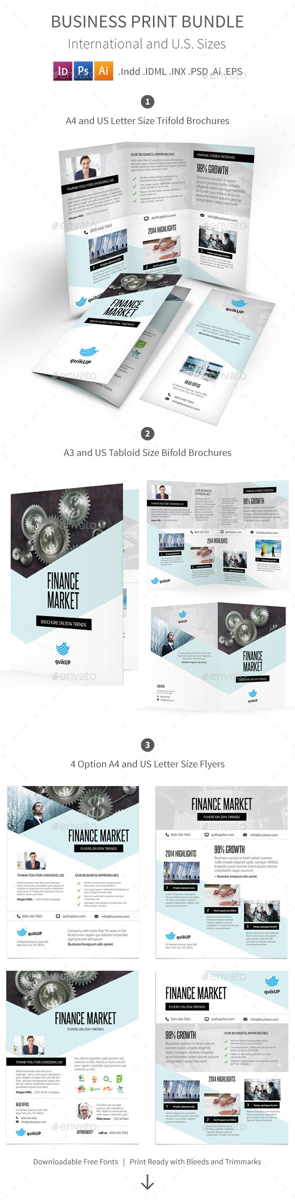 Business Print Bundle - Corporate Brochures
