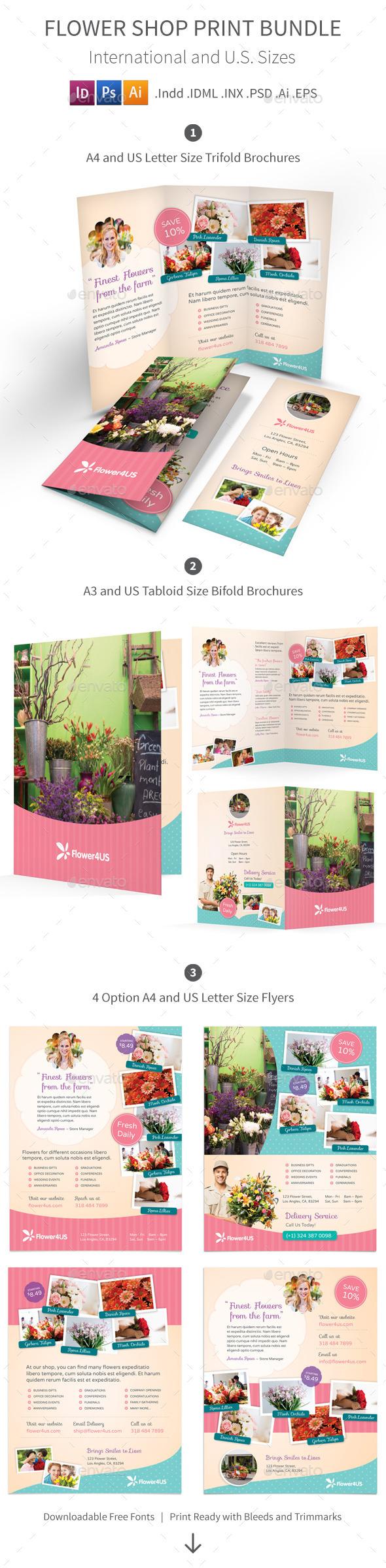 Flower Shop Print Bundle - Informational Brochures