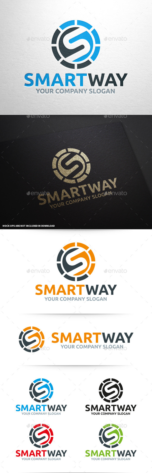 Smart Way - Letter S Logo - Letters Logo Templates