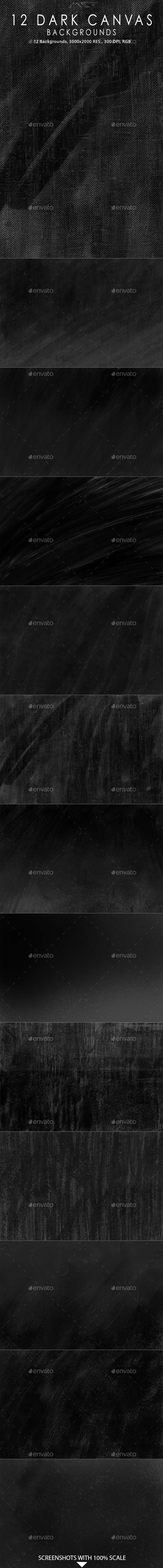 12 Dark Canvas Backgrounds - Abstract Backgrounds