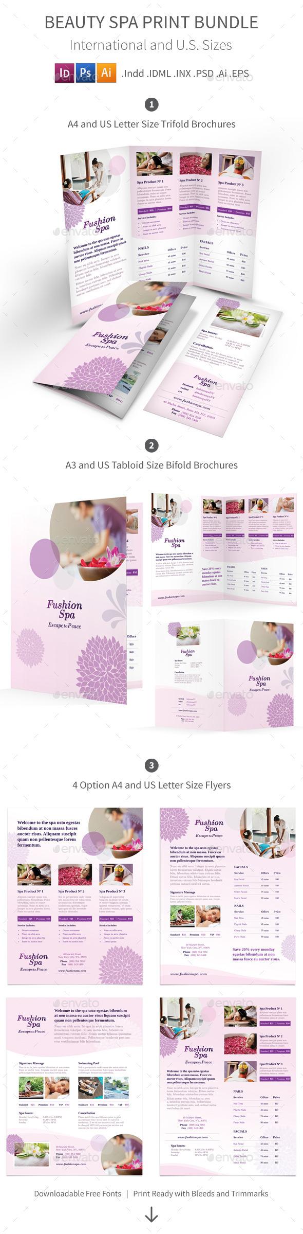 Beauty Spa Print Bundle - Informational Brochures