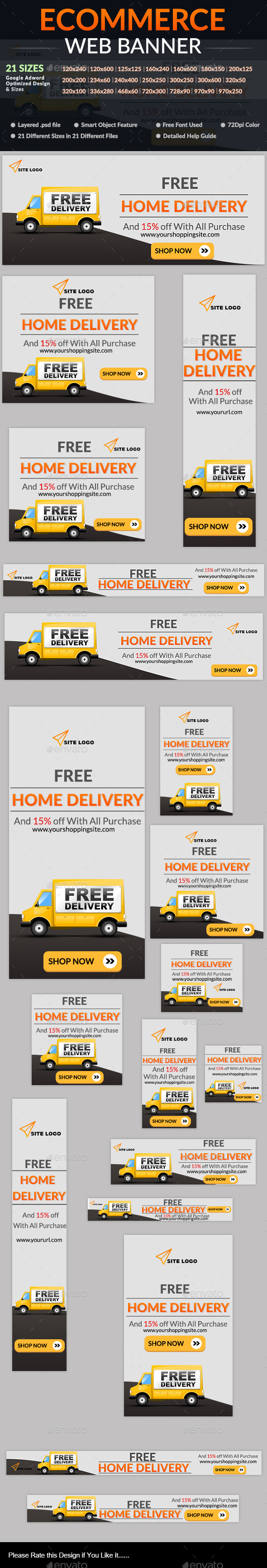 Ecommerce Web Banner - Banners & Ads Web Elements