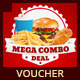 Restaurant Fast Food Discount Voucher - GraphicRiver Item for Sale