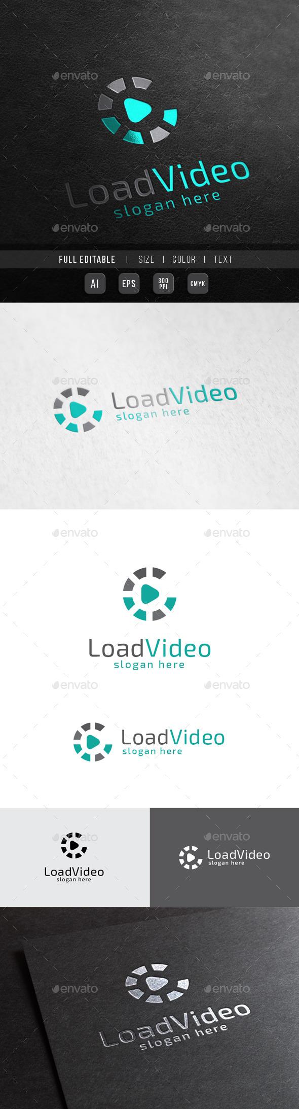 Load Music - Digital Play - Symbols Logo Templates