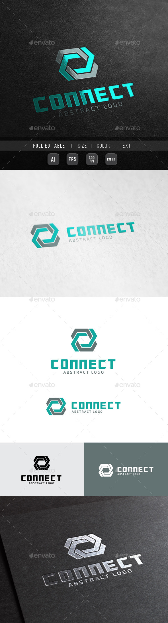 Connect Tech - 8 abstract - Letters Logo Templates