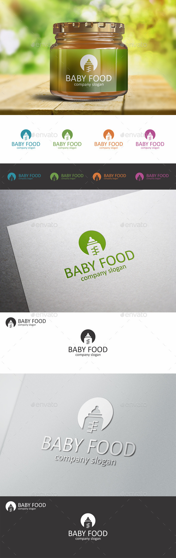 Baby Food Child Bottle Logo