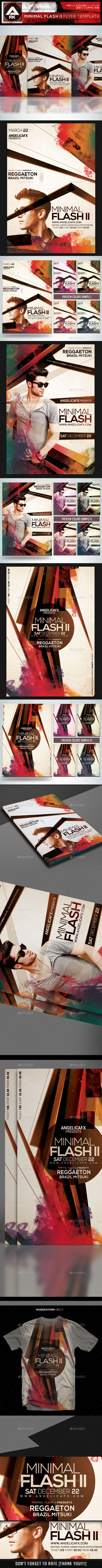 Minimal Flash II Flyer Template - Flyers Print Templates