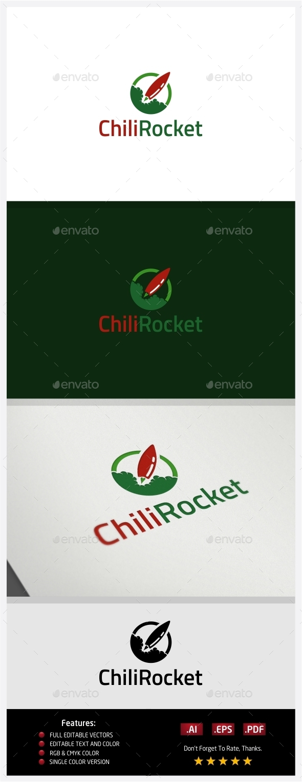 Chili Rocket - Logo Templates