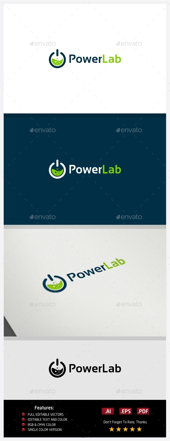 Power Lab Logo - Logo Templates