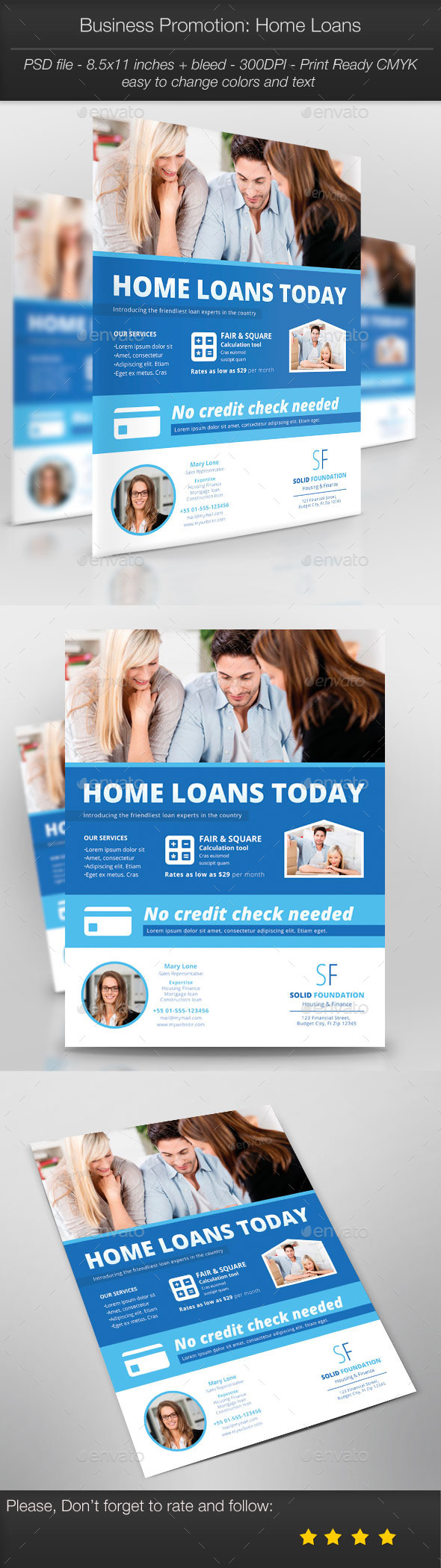 Business Promotion: Home Loans - Corporate Flyers