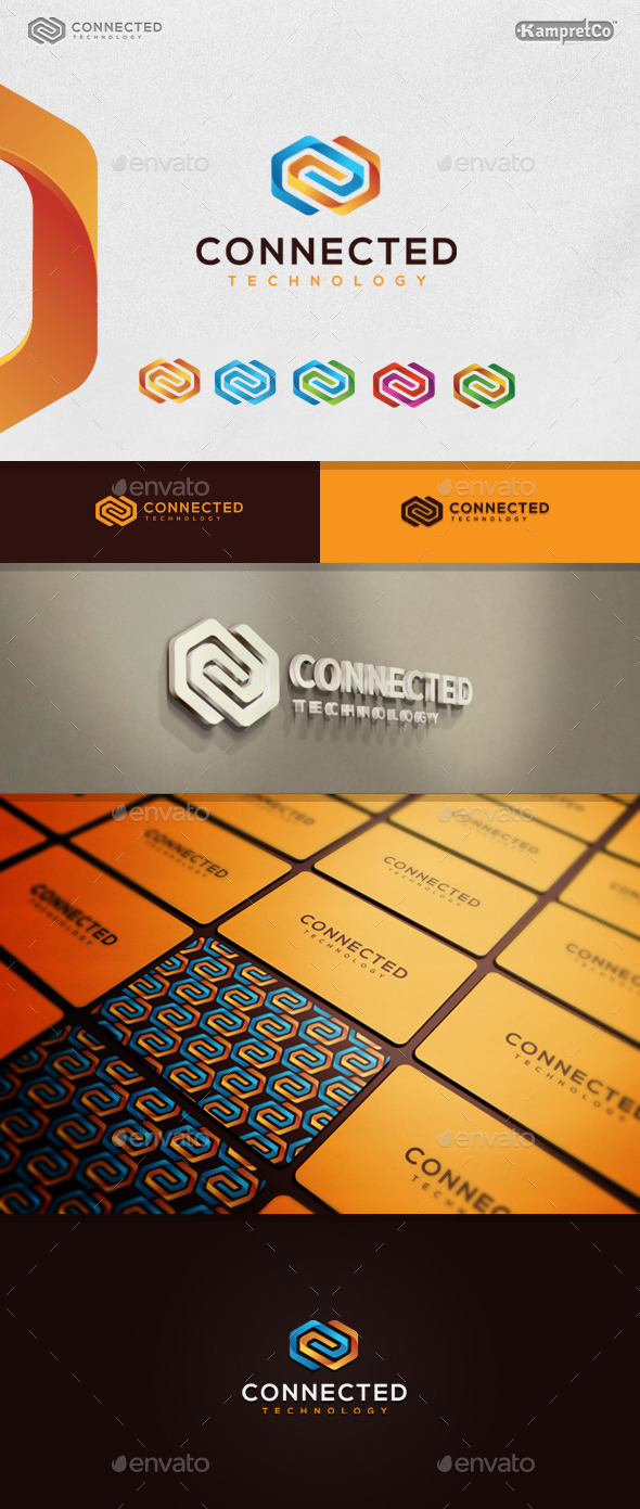 3D Connected Logo - 3d Abstract