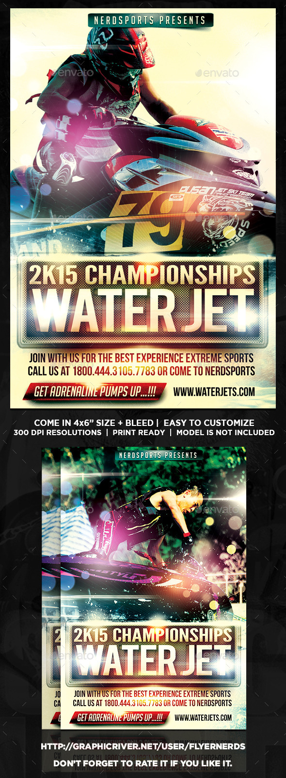 Extreme Water Jet Sports Flyer