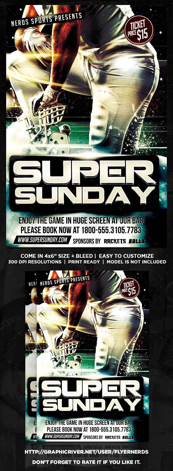 Super Sunday Football Sports Flyer - Sports Events