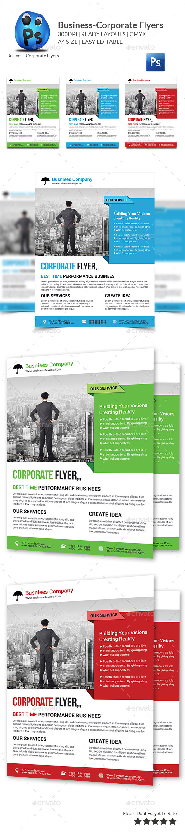 Business Planner Flyer Print Templates - Corporate Flyers