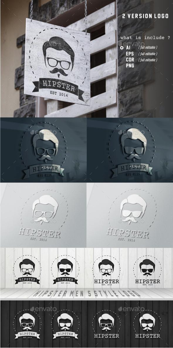 Hipster Men's Style Logo - Humans Logo Templates